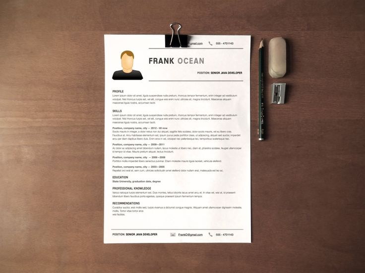 17 Best ideas about Simple Resume on