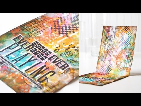 """▶ """"Play"""" Art Journal with Shari Carroll - YouTube  some great techniques.  really like how she uses the stencils in the beginning!"""