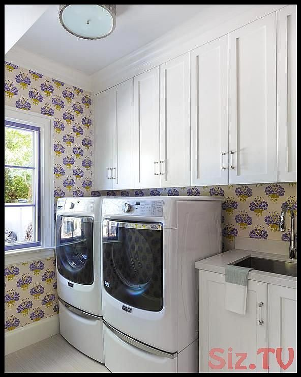 Dresses Fitted Katie Laundry Laundryroomwallpaper Peony Ridder Room Wallpaper Walls In 2020 White Laundry Rooms Laundry Room Wallpaper Country Laundry Rooms
