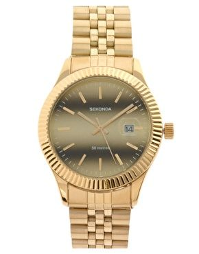 Sekonda Gold Bracelet Watch #asos