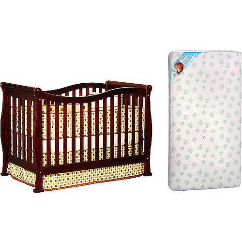Afg Athena Nadia 3 In 1 Crib Amp Kolcraft Pediatric Mattress Bundle Cherry Convertible Crib
