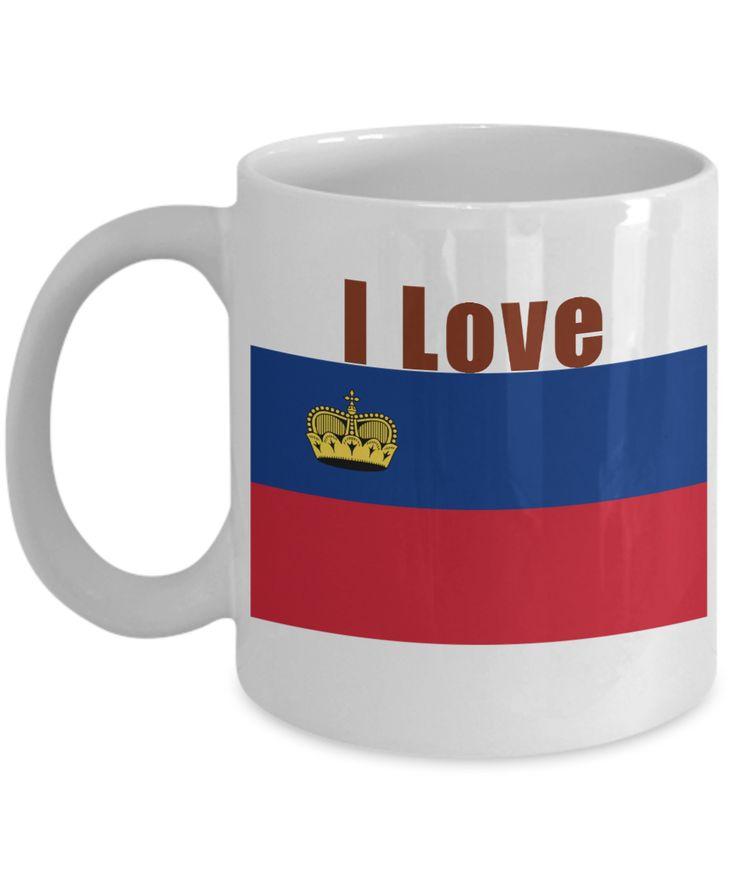 I Love Liechtenstein Coffee Mug With A Flag