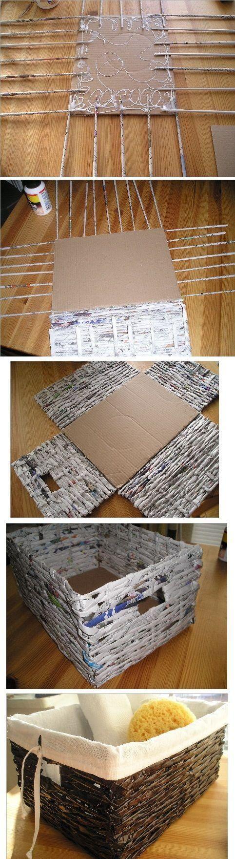 As melhores inspirações de artesanato com jornal. Veja modelos de caixas, cestos, vasos, molduras e muito mais!