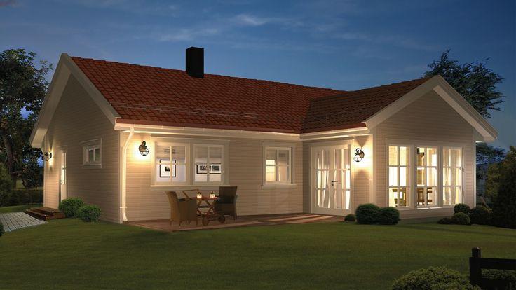 Linnea er et arealeffektivt vinkelhus med alt på et plan. De store og vakre vindusflatene på utstikket gir en svært åpen atmosfære i stuen. Boligen preges av store oppholdsrom og en fin avskjermet soveromsavdeling. Vinkelen på huset gir et unikt særpreg og skaper en lun og koselig uteplass.