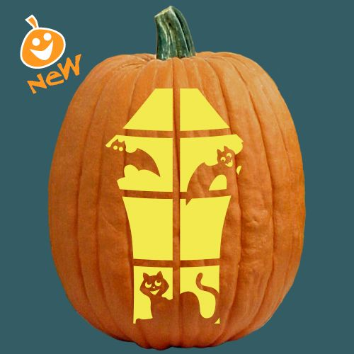 17 best images about cats witches pumpkin carving for Witch carving pattern for pumpkins