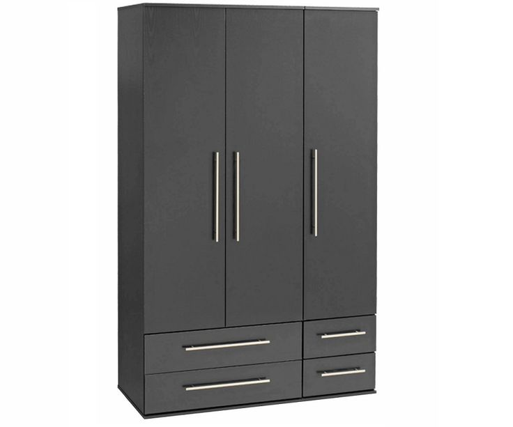 Three Doors And Four Draws Wardrobe Design Id555 - Three Door Wardrobe Designs - Wardrobe Designs - Product Design