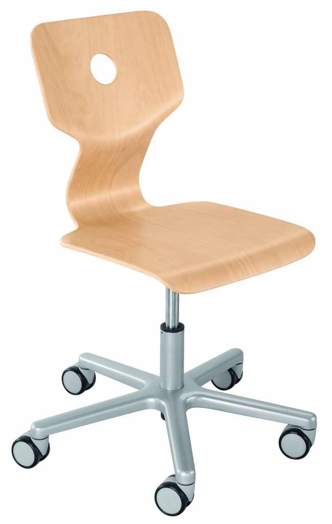 Schreibtischstuhl Matti Von Haba In 6 Farben Sitzhohe Verstellbar Von 35 46 Cm Sitzflache 40 X 40 Cm Buche Sp Schreibtischstuhl Stuhle Sperrholz