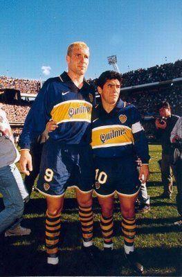 Palermo y Maradona en Boca 1995