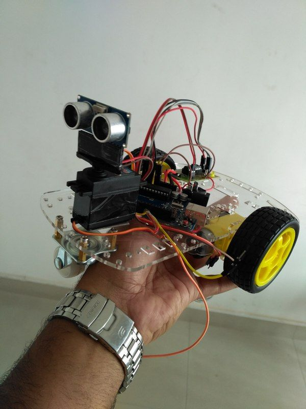 Robot using Arduino and Bluetooth Module (Obstacle Avoidance Robot) - Electronic Circuits and Diagram-Electronics Projects and Design