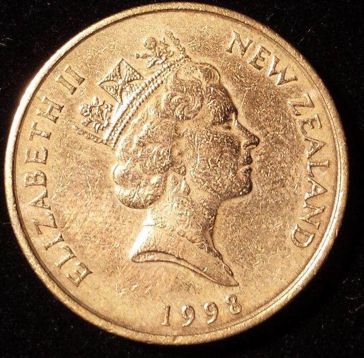 New Zealand 1998 - 2 Dollars Aluminum-Bronze Coin - Q. Elizabeth II - Kotuku