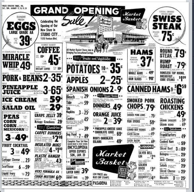 Sale papers for grocery stores