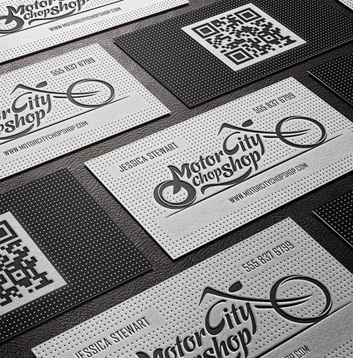 Edgy Letterpress And Emboss Business Card Design