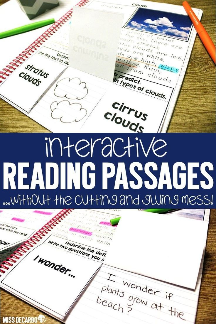 - Interactive Reading Passages BUNDLE (With Images) Reading