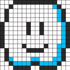 Mario Cloud Perler Bead Pattern / Bead Sprite