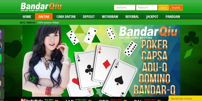 BANDARQIU – Agen Poker Online, DominoQQ Terpercaya