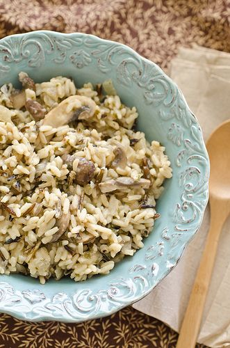 Wild Rice and MushroomsRice Bowls, Side Dishes, Dresses Up, Butter, Mushrooms Recipe, Rice And Mushrooms, Green Beans, Roasted Chicken, Wild Rice With Mushrooms2