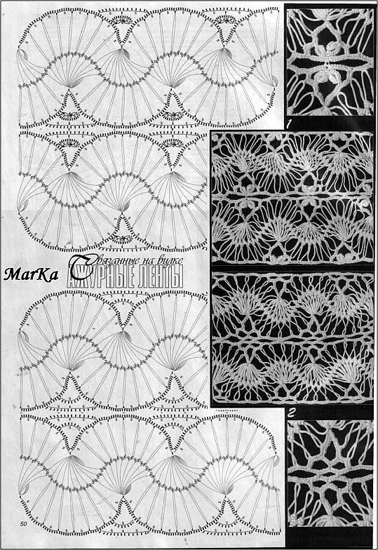 Mejores 259 imágenes de knit8 - horquilla/hairpinlace en Pinterest ...