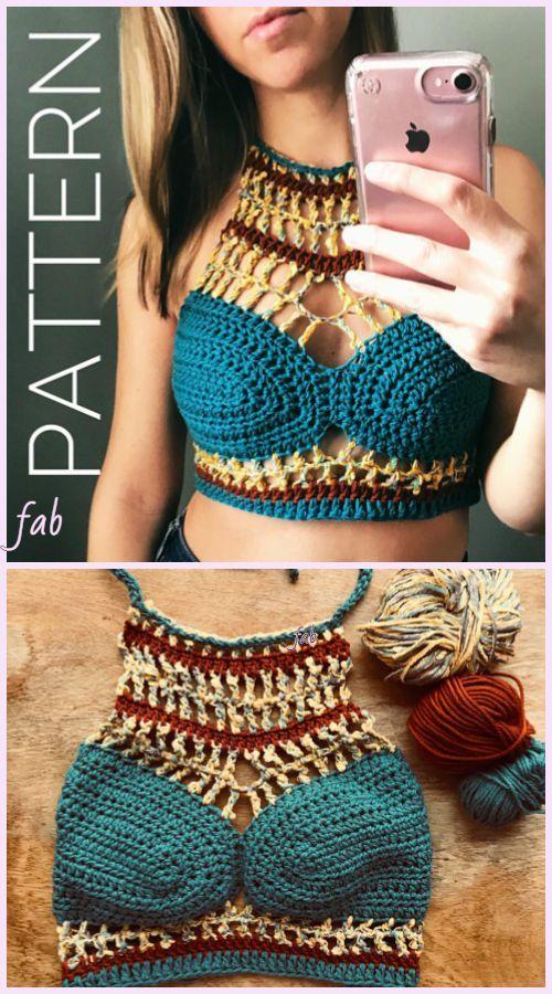 aefe429824 Chic Crop Top Bralette Crochet Pattern for Ladies Summer Wear   diycroptopcrochet