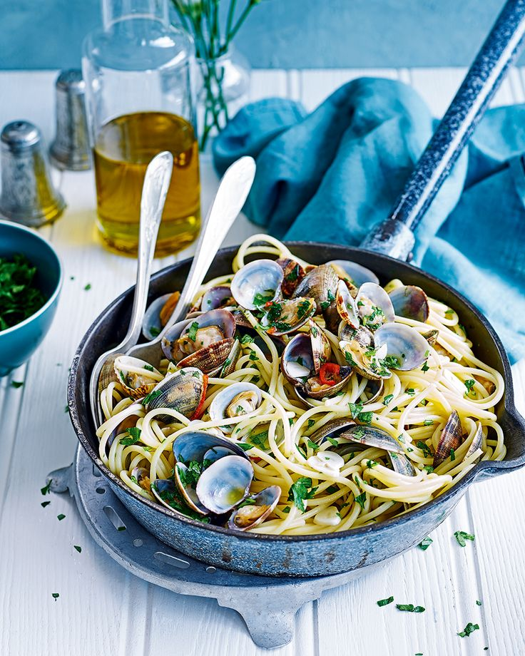 Angela Hartnett's recipe for spaghetti alle vongole requires minimum effort for maximum results. This pasta dish makes for a great dinner party main.