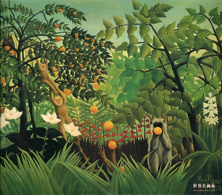 Henri Rousseau Paintings | Exotic Landscape_画家亨利 卢梭 Henri Rousseau_高清油画大图 ...