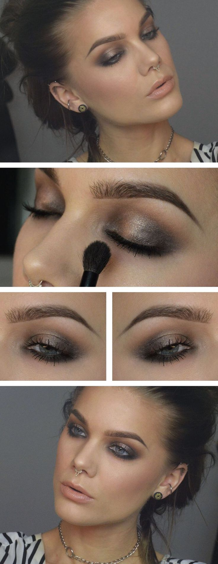 #grey + #brown #makeup