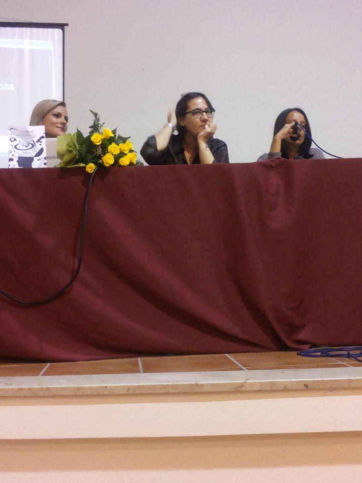Da sinistra: Claudia Guadagno, Giulia Carmen Fasolo, Serena Manfrè.