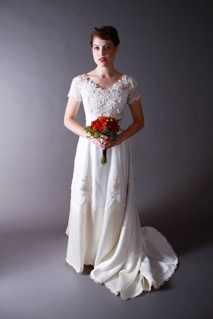 Vintage 1960s Wedding Dress William Cahill Two Piece
