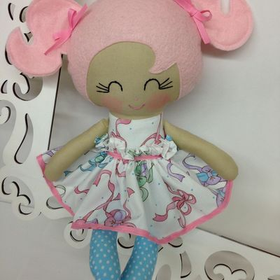 $40.00 Handmade doll-Beautiful doll with removable velcro skirt. Perfect baby…