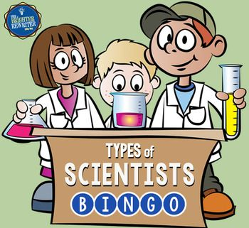 Learn the names and job descriptions of 30 different types of scientists while playing a fun game. Students create their own bingo cards by cutting out and attaching 24 choices onto a blank bingo card. You can choose to use a page with only the vocabulary words or a page with vocabulary words and pictures.