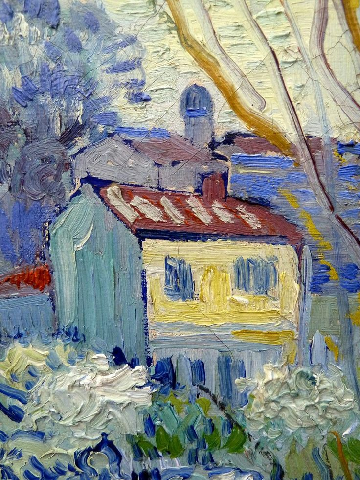 Vincent van Gogh View of Arles, detail 1889