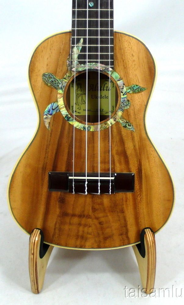Alulu Solid Acacia Koa Tenor Ukulele,turtle abalone rosette,Hard case ,HUA50 in Musical Instruments & Gear, String, Folk & World | eBay