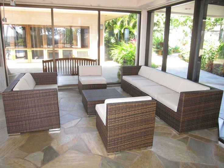 Ohana Wicker Furniture Outdoor Patio Furniture Deep Seating Set In Mixed  Brown / Ohana Depot