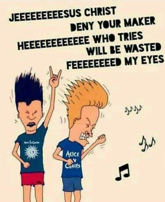 Beavis And Butthead Alice In Chains Lyrics In 2019 Alice In