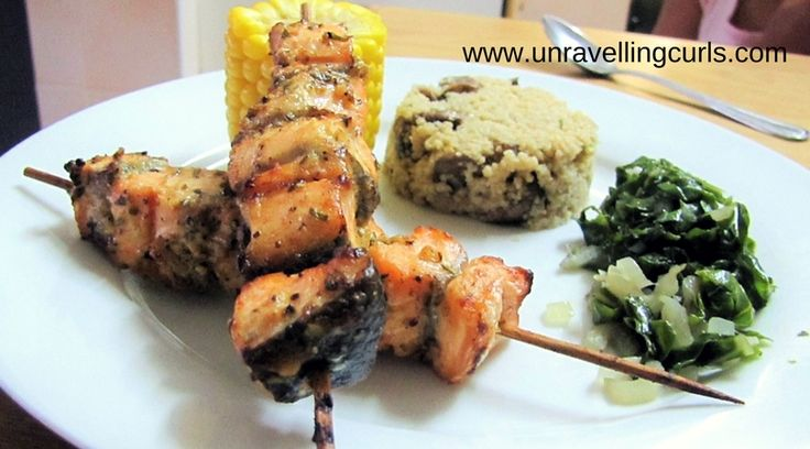 These butter lemon garlic and honey salmon skewers are so easy to make and really healthy. I grilled it and only took 10 minutes to make.