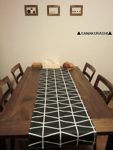 ▲テーブルランナーと花挿しを買う▲ : ▲SANAKURASHI▲ e0238646_2216571.jpg
