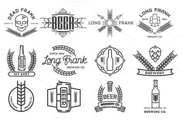 Vector beer logos. by I-RO on Creative Market