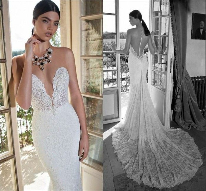 Y Wedding Dresses Long Cut Out Heart Shaped White Drag Backless