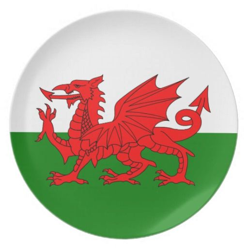 Wales flag plates - these are super for restaurants that serve intercontinental foods - for example Rarebit, then decorate plates etc to match giving the meal more authenticity.