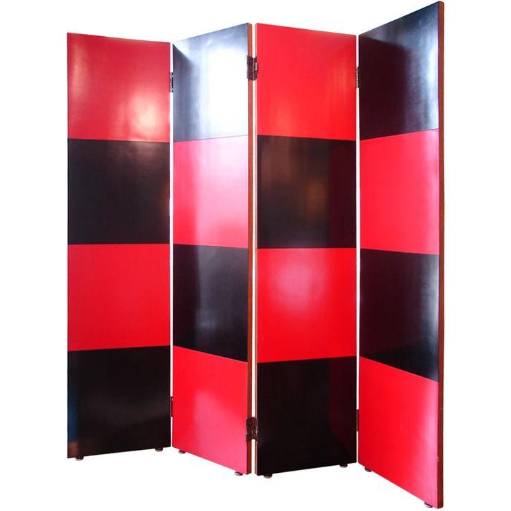 four panel folding screen