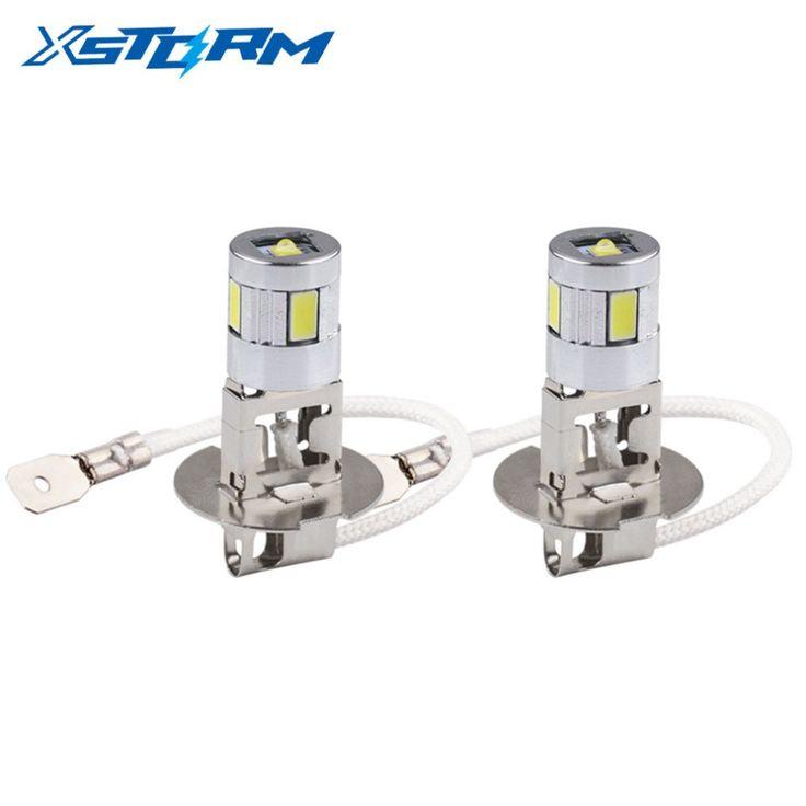 2pcs H3 4 led car light Cree Led Chip high power lamp 5630 Auto car led bulbs Car Light Source parking 12V 6000K Head Fog Lamps