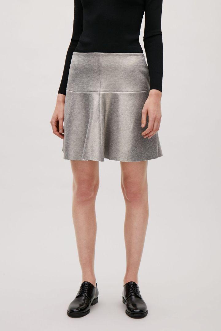 COS | Metallic foil skirt