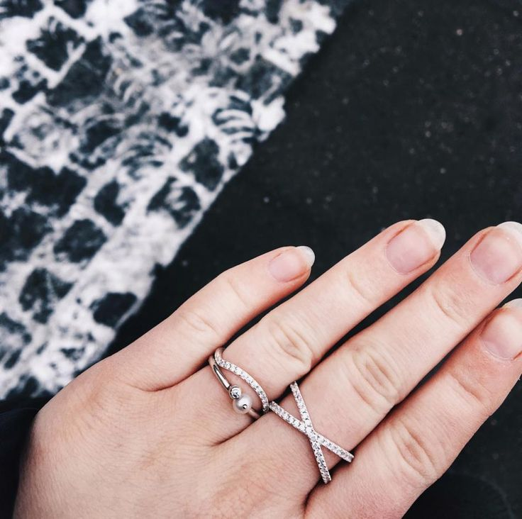 Styling by pernillelorup showing Wave Zirconia Ring Silver and Cross Zirconia ring Silver #jewellery #Jewelry #bangles #amulet #dogtag #medallion #choker #charms #Pendant #Earring #EarringBackPeace #EarJacket #EarSticks #Necklace #Earcuff #Bracelet #Minimal #minimalistic #ContemporaryJewellery #zirkonia #Gemstone #JewelleryStone #JewelleryDesign #CreativeJewellery #OxidizedJewellery #gold #silver #rosegold #hoops #armcuff #jewls #jewelleryInspiration #JewelleryInspo #accesories #DanishDesign…