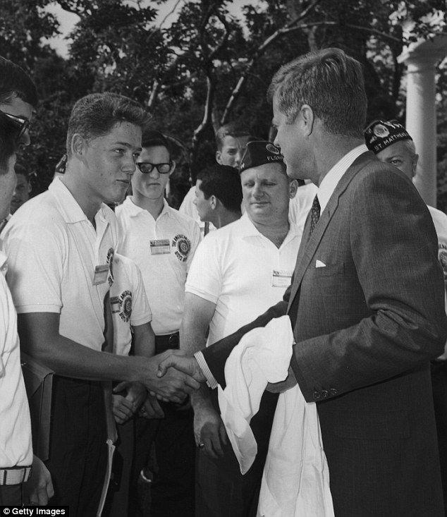 Bill Clinton meeting JFK, 1963 via reddit - Historical Times