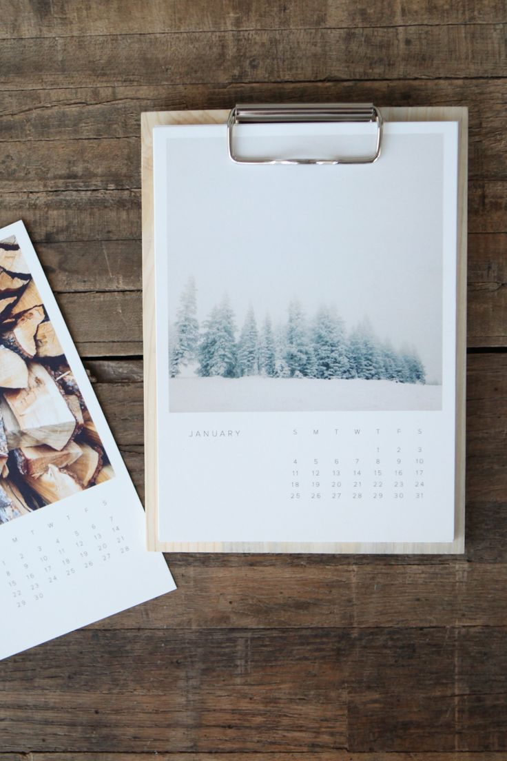 Wood #Calendar Artifact Uprising Edition