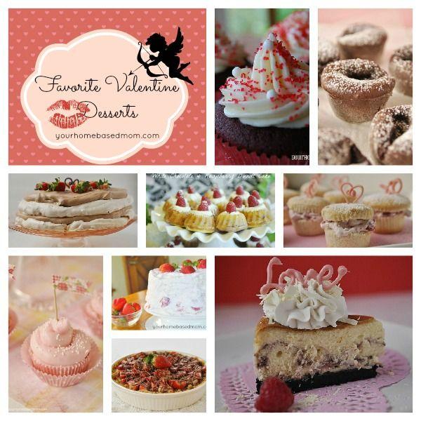 Favorite Valentine Desserts @yourhomebasedmom.com  #valentines,#desserts,#recipes
