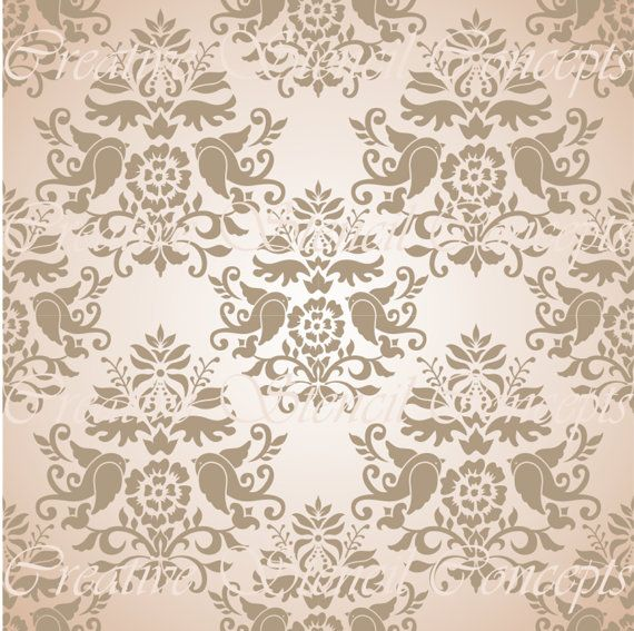 Beautiful Floral Damask Decorative Stencil MULTIPLE SIZES AVAILABLE on Industry Standard 12 Mil Blue Mylar Design 125090405 on Etsy, $12.95