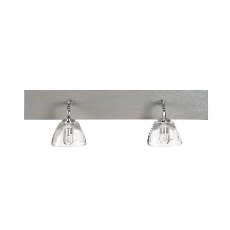 Applique 2 lumières de salle de bain BOIS Bois GRIS/BLEU - Willwood - Les appliques pour salle de bain - Eclairage de salle de bain et cuisine - Luminaires - Décoration d'intérieur - Alinéa