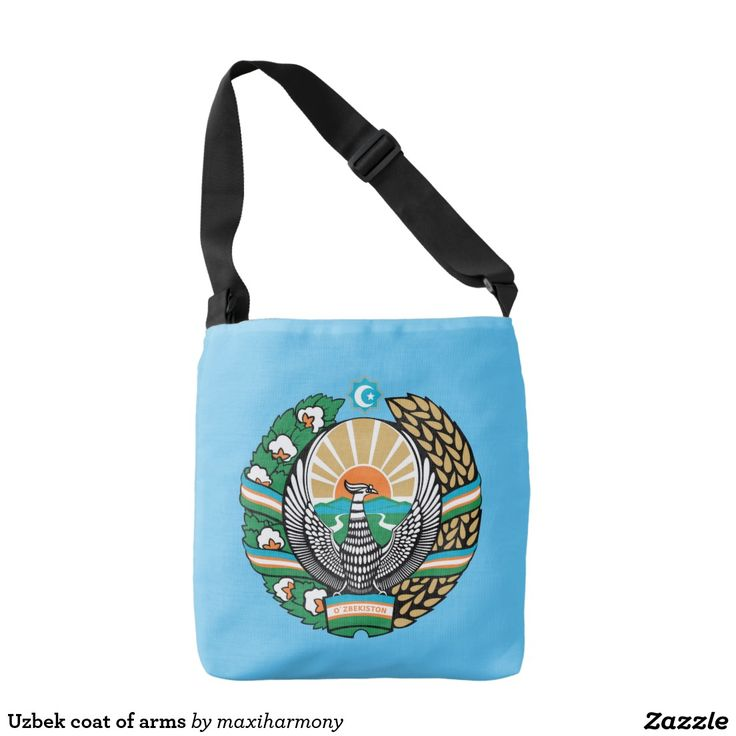 Uzbek coat of arms tote bag