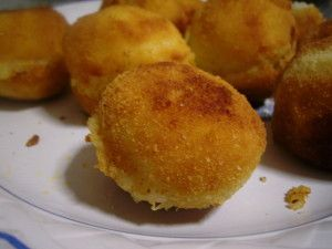 Receta de bolas de patata rellena de chorizo