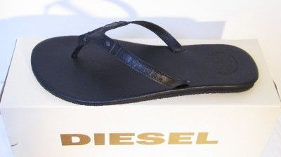 Diesel Shoes Chiloe Flip Flops Designer Black Men New